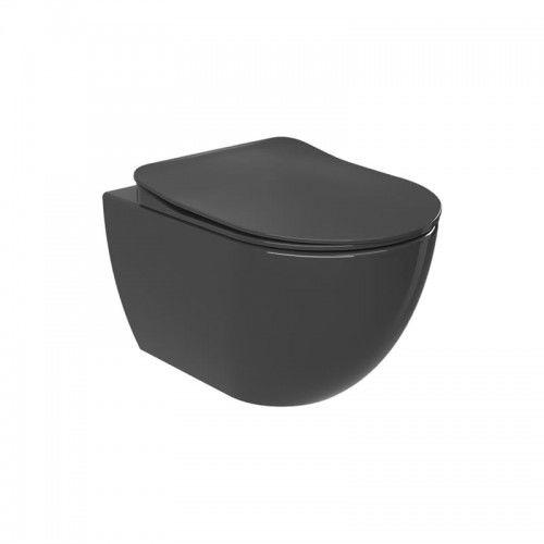 Miska WC podwieszana 352x340x510 mm z deską soft close ANTRACYT Mat,Creavit