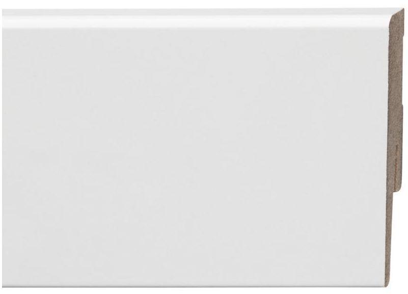 Listwa przypodłogowa mdf biała połysk Diamond 80 mm Arbiton