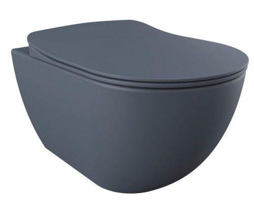 Miska WC podwieszana 352x340x510 mm z deską soft close Basalt Mat ,Creavit