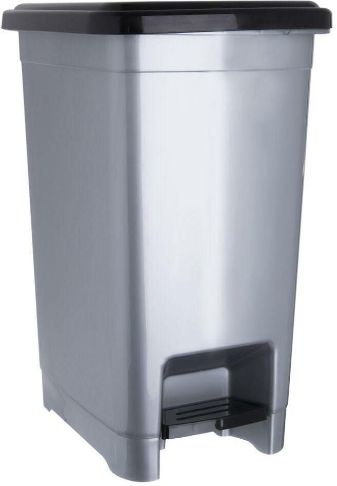 Kosz na odpady śmieci slim wąski 10 l z pokrywą
