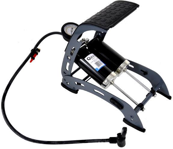 Pompka nożna dwutłokowa z manometrem 7Bar Geko