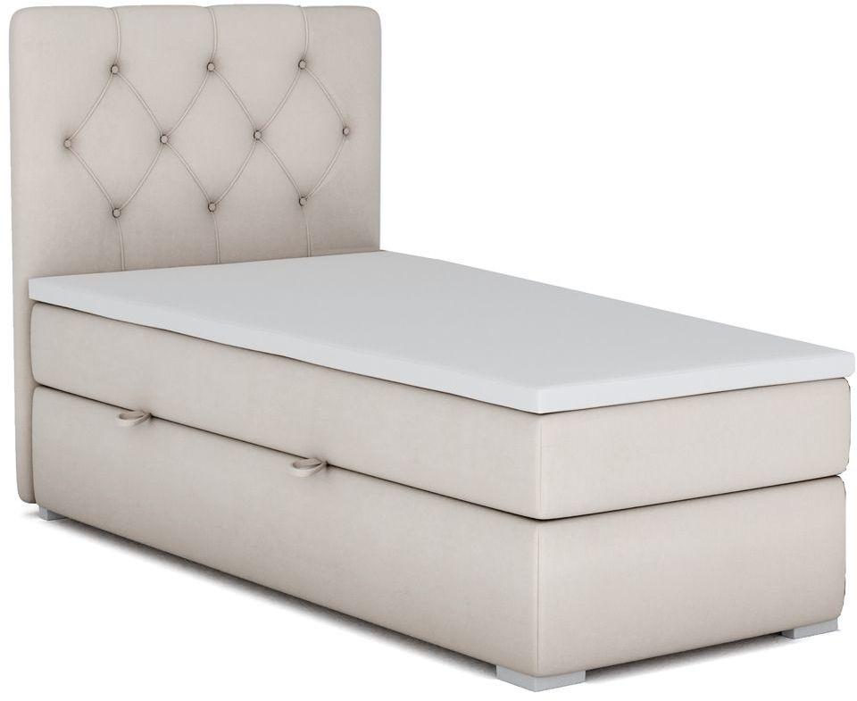 Pojedyncze łóżko kontynentalne Rina 80x200 - 58 kolorów