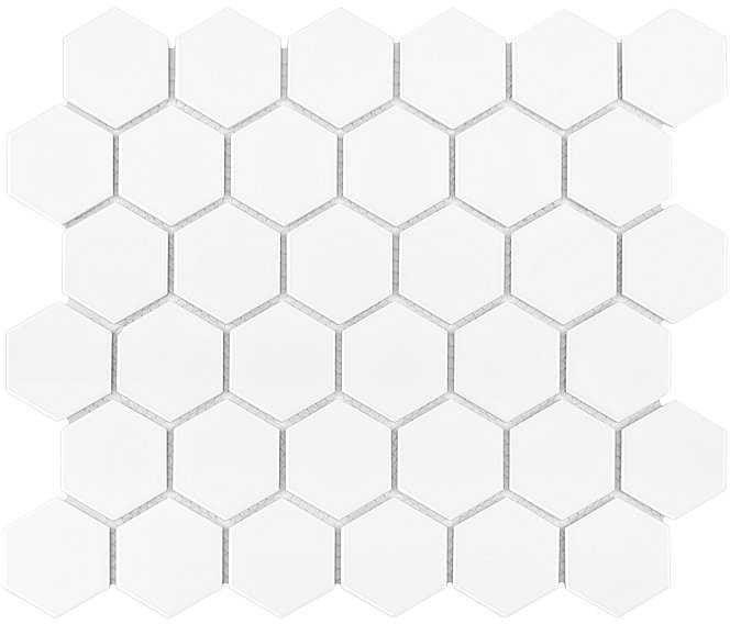 DUNIN mozaika ceramiczna HEXAGON WHITE 51 MATT