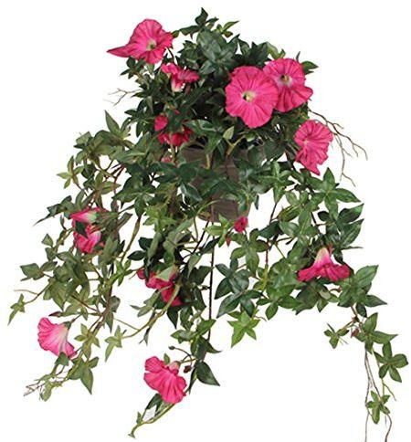 Mica decorations Roślina sztuczna, poliester, różowy, dł. 50 x szer. 45 x wys. 25 cm