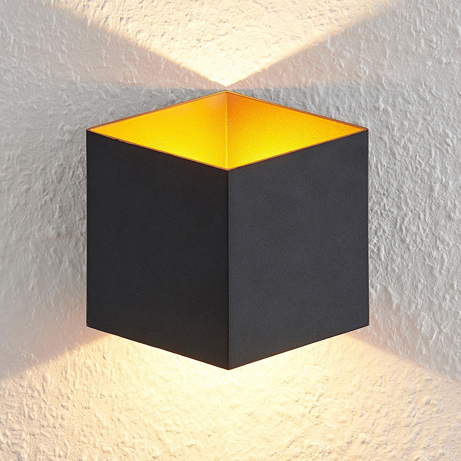 Arcchio Alima kinkiet LED ściemniany IP44 czarny