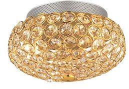 Plafon King PL3 ORO 75402 Ideal Lux złota oprawa w kryształowym stylu