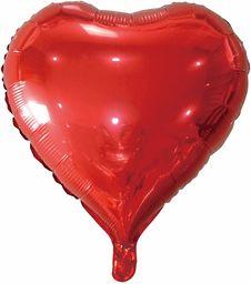 Idena 38213  balon foliowy serce, rozmiar ok. 43 cm, bez wypełnienia, nadaje się do helu i powietrza, Walentynki, Dzień Matki, urodziny, wesele, wyznanie miłości, dekoracja, balon helowy