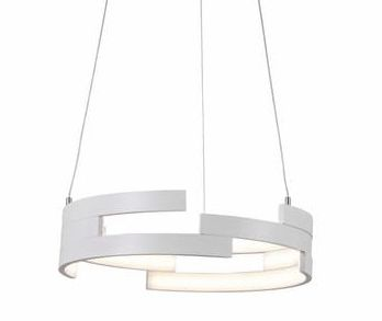 Reality lampa wisząca Natalia 327201-01 biała LED 30W 3000K 40cm / 24h