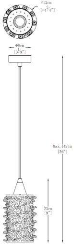 Lampa wisząca GIANNA 1x5W LED srebrny P0386-01A-F4AC ZUMA LINE
