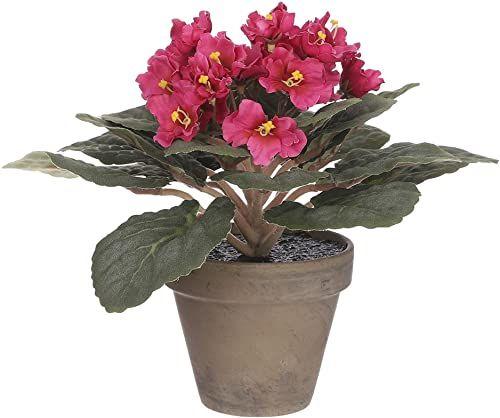 Mica Decorations Saint Paulia  roślina sztuczna  jasnoróżowa  wys. 20 cm