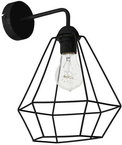 Kinkiet nowoczesny druciana lampa ALMA czarny