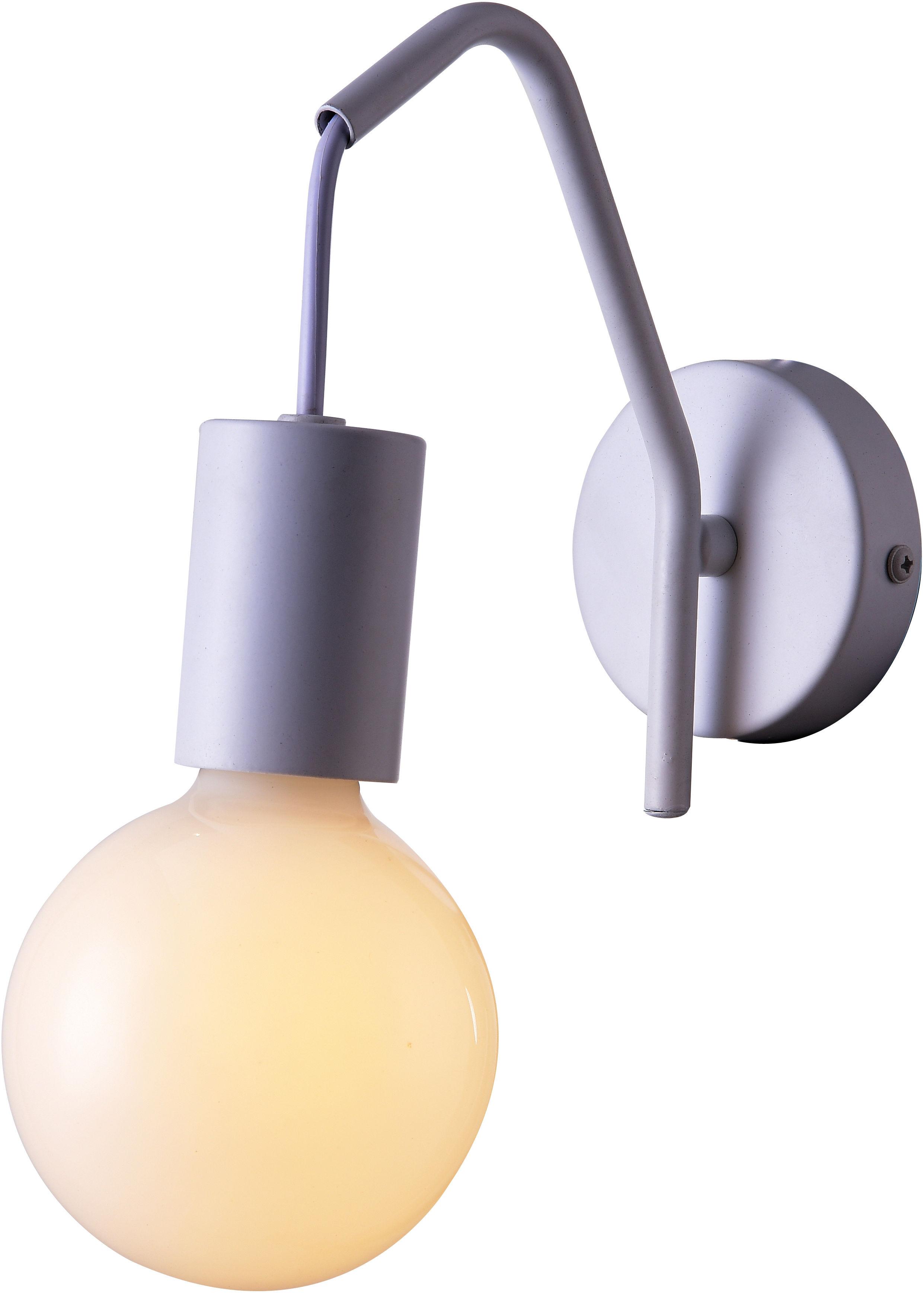 Candellux BASSO 21-70982 kinkiet lampa ścienna biała matowa 1X40W E27