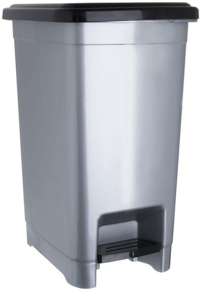 Kosz na odpady śmieci slim wąski 15 l z pokrywą