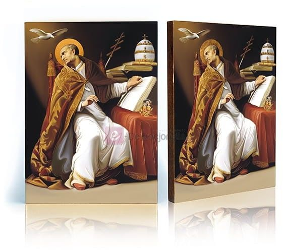Ikona Święty Grzegorz z certyfikatem - 17x23cm