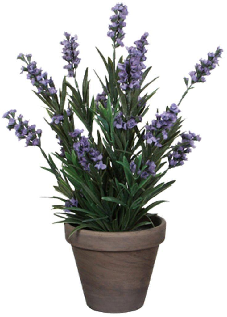 Mica decorations Sztuczna roślina, poliester, niebieski, wys. 33 x śr. 20 cm