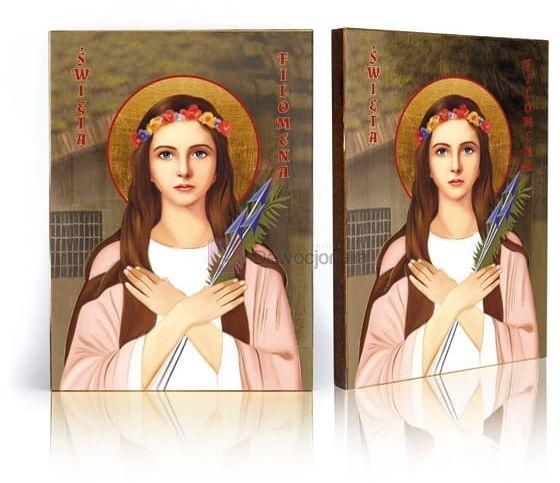 Ikona Święta Filomena z certyfikatem - 17x23cm