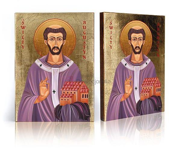 Ikona Święty Augustyn z certyfikatem - 17x23cm