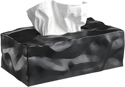 Essey 14414 Wipy II prostokątne pudełko do dozowania chusteczek do twarzy, czarne
