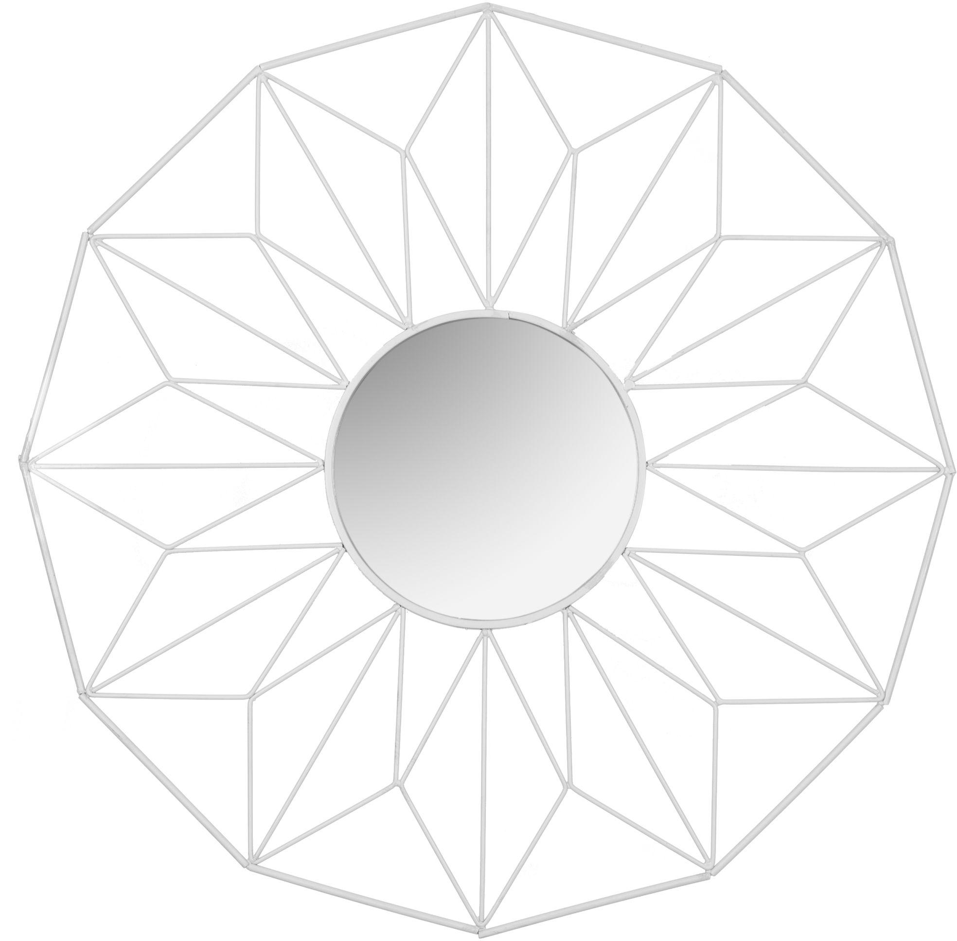 Tutumi Lustro geometryczne 12-kątne białe 58 cm