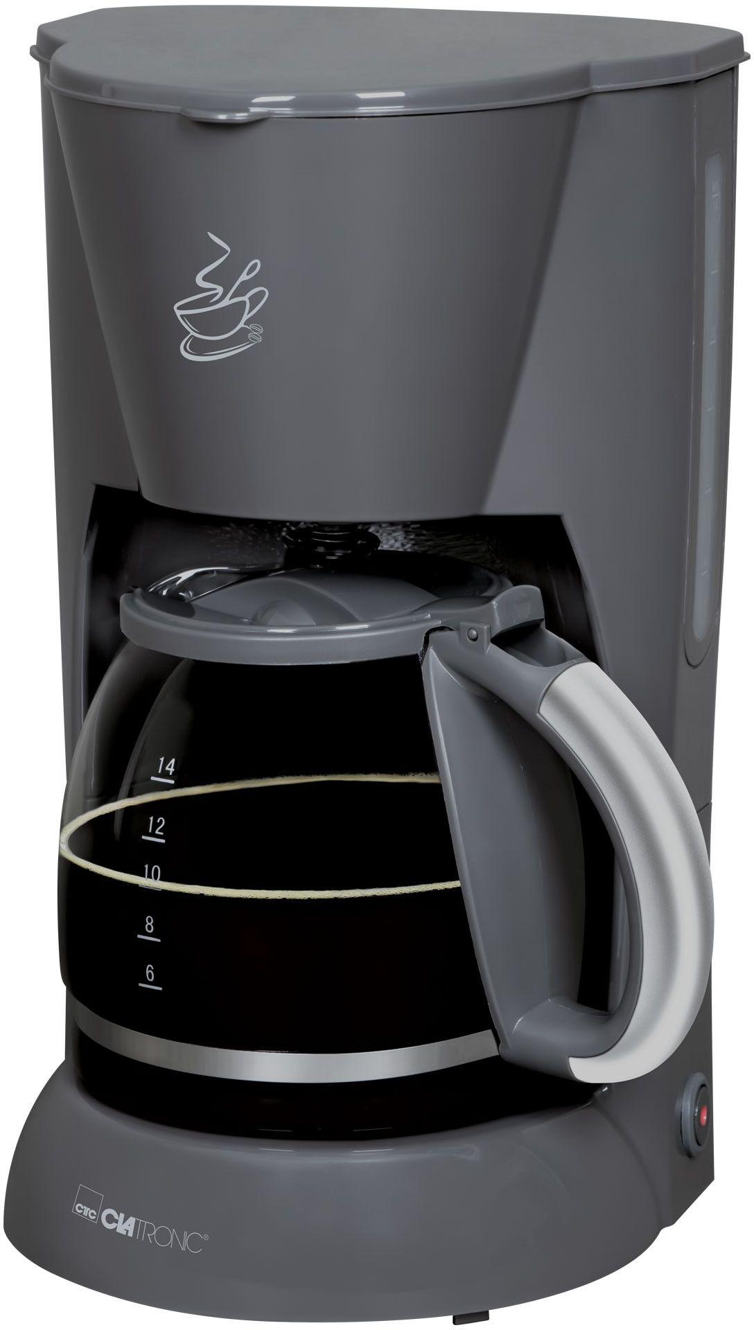 Kawiarka przelewowy ekspres do kawy Clatronic KA 3473 (szara)