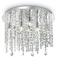 Plafon Royal PL8 052991 Ideal Lux elegancka oprawa sufitowa w kryształowym stylu