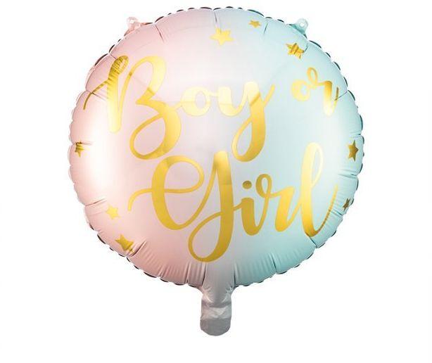 Balon foliowy Boy or Girl 35cm1 sztuka FB83