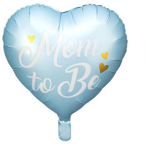 Balon foliowy Mom to Be 35cm niebieski1 sztuka FB92-001