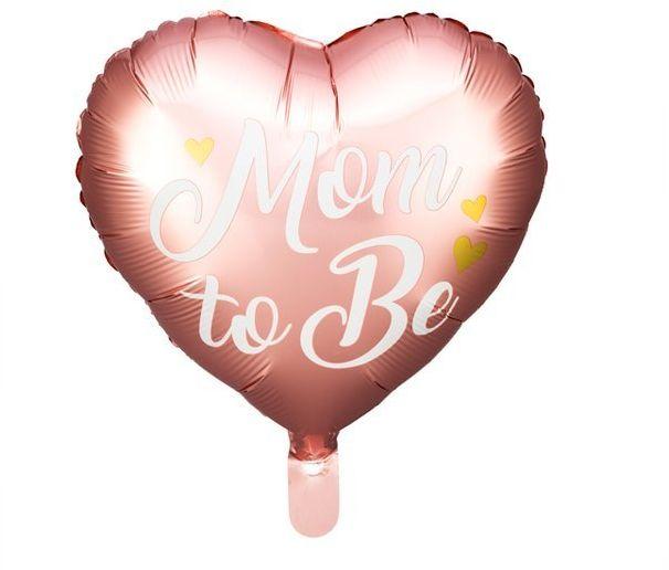 Balon foliowy Mom to Be 35cm różowy 1 sztuka FB92-081