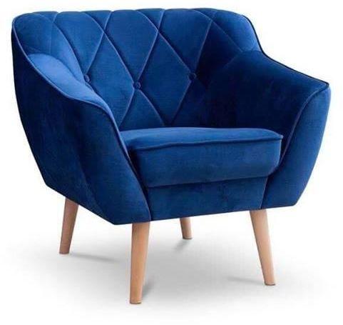 Fotel tapicerowany Cindy w stylu skandynawskim