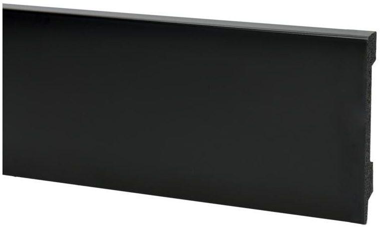 Listwa przypodłogowa pcv Verona KX05 Czarna Matowa 80x2400 mm Korner