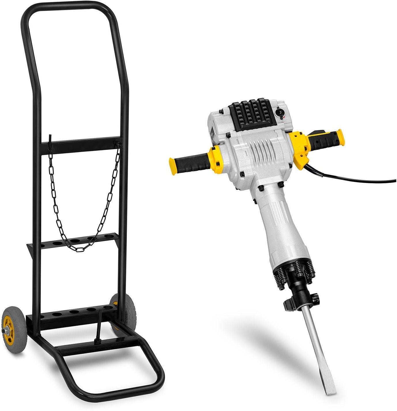 Zestaw Młot wyburzeniowy - 2100 W + Wózek - 30 kg - MSW - ABH-2100T - 3 lata gwarancji/wysyłka w 24h