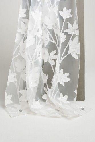 Firana tkanina firanowa LAGUNA FLOWERS 01