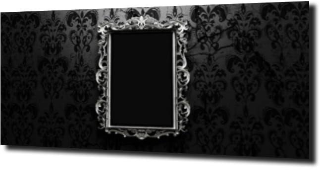 obraz na szkle Lustro czarne tło glamour