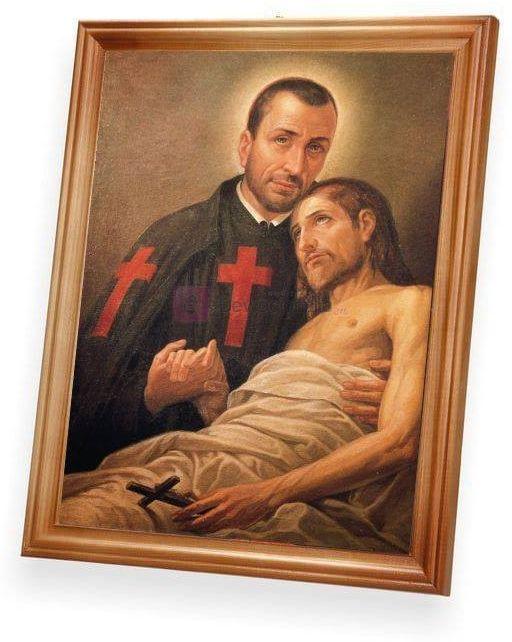 Święty Kamil de Lellis 27x23
