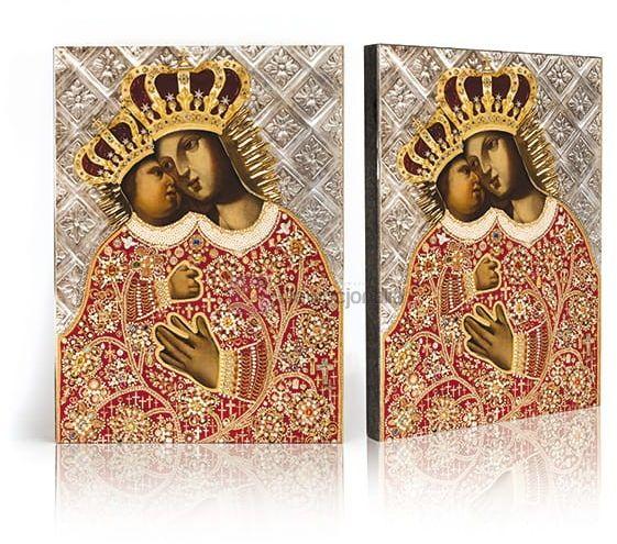 Ikona Matka Boża Kalwaryjska z certyfikatem - 17x23cm