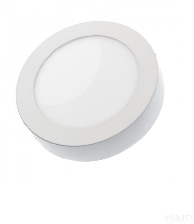 ALGINE ECO LED ROUND 230V 12W IP20 CW SUFITOWE biała ramka NATYNKOWA