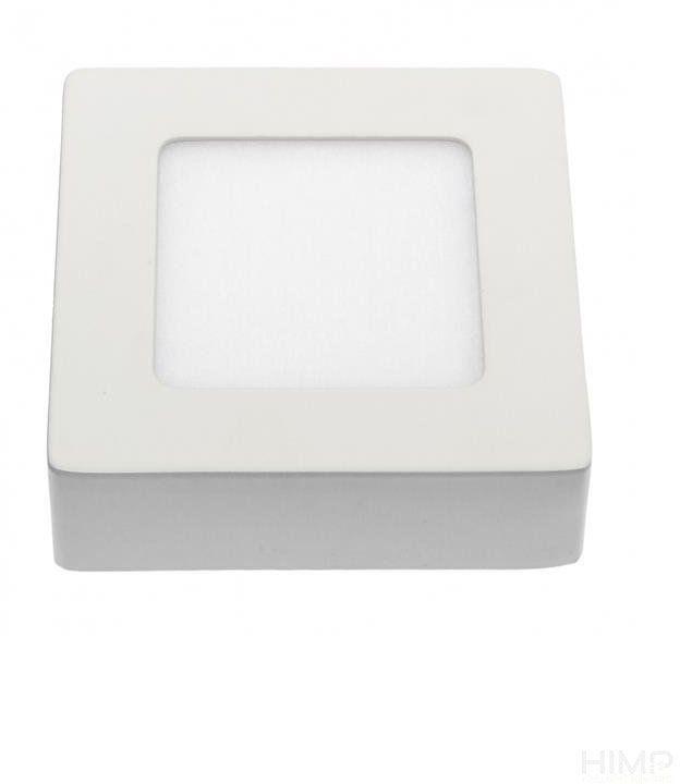 ALGINE ECO LED SQUARE 230V 6W IP20 WW SUFITOWE biała ramka NATYNKOWA