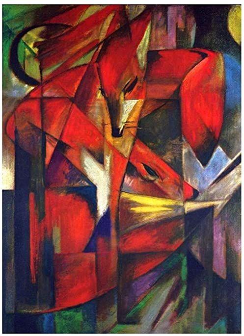 Legendarte - Obraz na płótnie - The Fox - Franz Marc - Dekoracje ścienne cm. 60x80