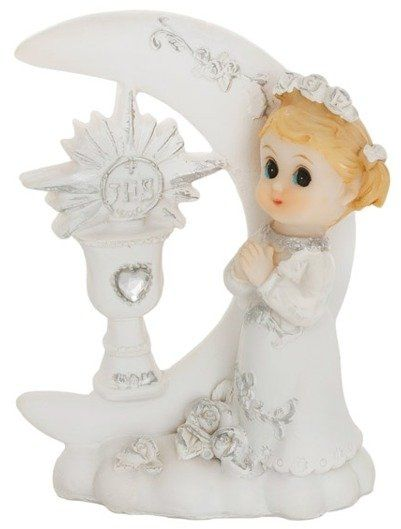 Figurka komunijna Dziewczynka Kielich IHS 9cm 1 sztuka KFF3D