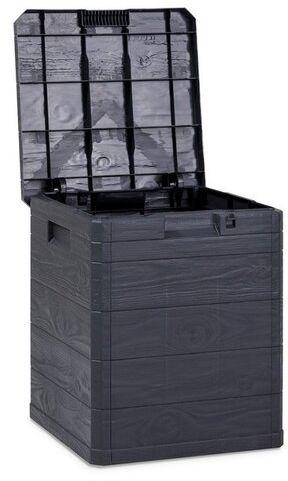 Skrzynia do przechowywania na pokrowce Woody, ciemnoszary, 90 l