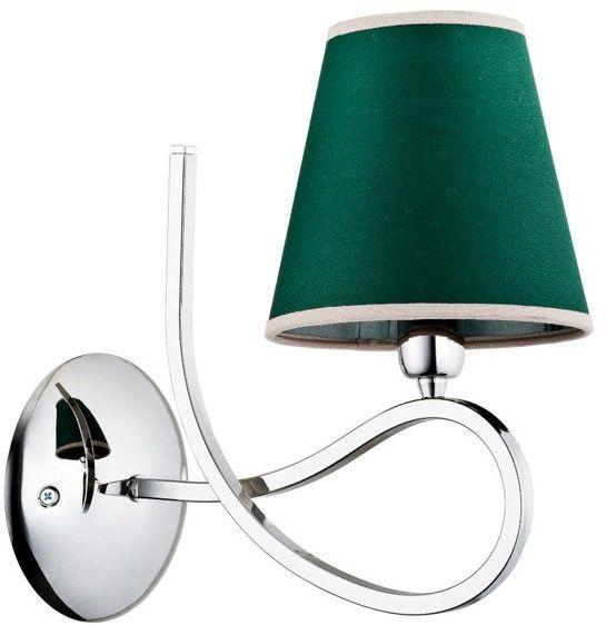 Nowoczesna lampa ścienna WILLMA I chrom/zielony śr. 28cm