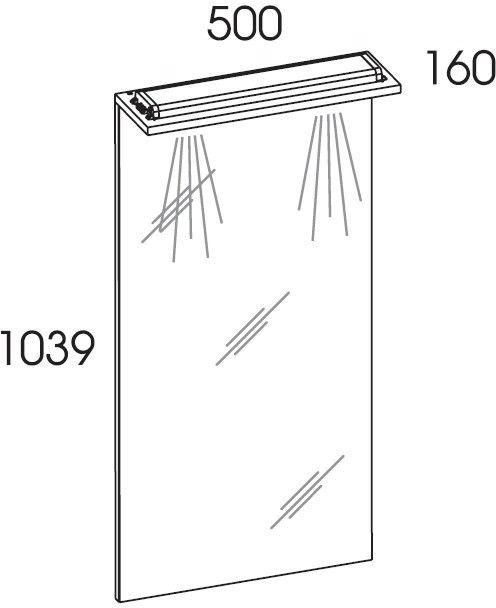 Lustro z panelem Led 50 White Elita (974753)