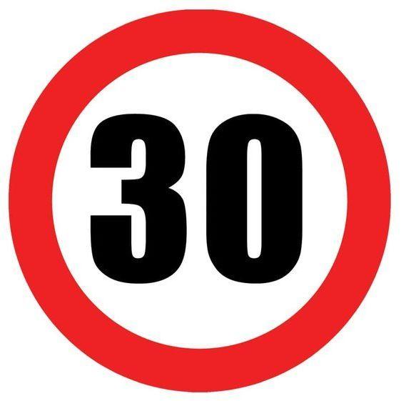Talerzyki na 30 urodziny zakaz 18cm 6 sztuk TP18-ZAK30
