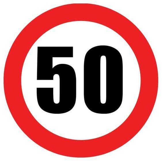 Talerzyki na 50 urodziny zakaz 18cm 6 sztuk TP18-ZAK50