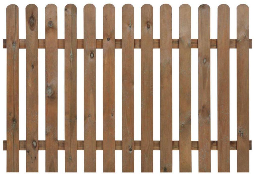Płot sztachetowy 180x120 cm drewniany NIVE NATERIAL