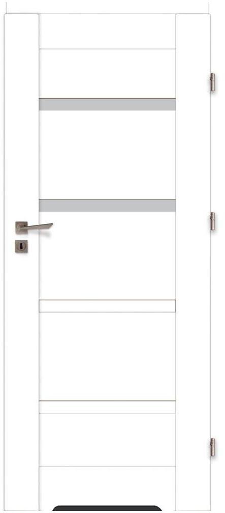 Skrzydło drzwiowe z podcięciem wentylacyjnym Parma Białe 70 Prawe Voster