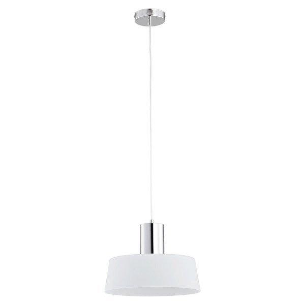 Lampa wisząca zwis LUX chrom/biały śr.30cm