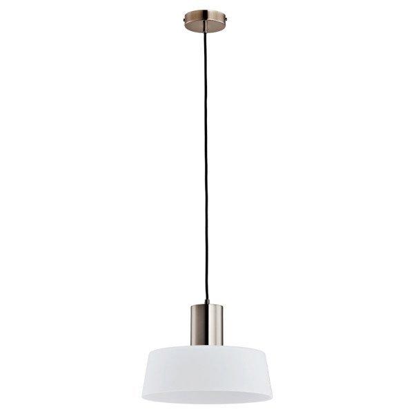 Lampa wisząca zwis LUX szary/biały śr.30cm
