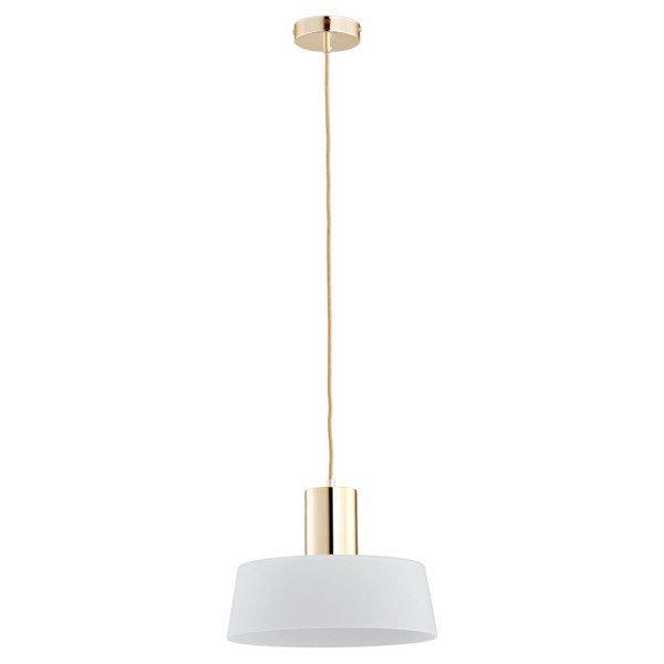 Lampa wisząca zwis LUX złoty/biały śr.30cm