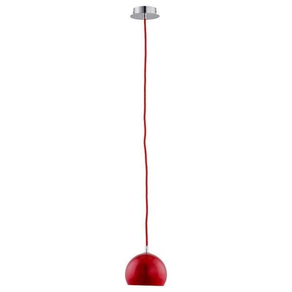 Lampa wisząca zwis WATERFALL czerwona śr. 14cm